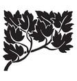 leafy divider have dark leaves in it vintage vector image vector image
