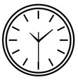 line icon wall clock face vector image vector image