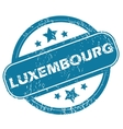 LUXEMBOURG round stamp vector image