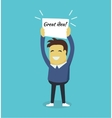 Man with a Banner Great Idea vector image vector image