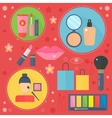 Modern flat design beauty and shopping concept vector image vector image