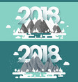 mountains in winter2018 peak with snow nature vector image vector image