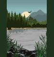 national park colorful vintage poster vector image