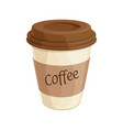 paper coffee cup flat vector image vector image