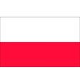 polish flag vector image vector image