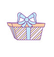 present gift with ribbon bow decoration design vector image vector image