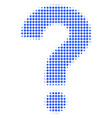 question halftone icon vector image
