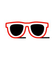 red sunglasses icon isolated on white background vector image