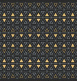 seamless geometric pattern with bold triangle vector image