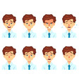 set of male facial emotions avatar businessman vector image vector image
