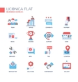 Set of modern business office flat design icons vector image vector image