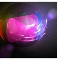 Sphere Glass Ball vector image vector image