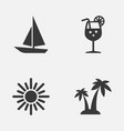 summer icons set collection of ship trees vector image vector image