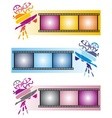 Three colorful banners vector image vector image
