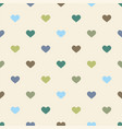 tile pattern with hearts on pastel background vector image vector image