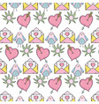 valentines day pattern background vector image vector image
