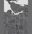 vancouver city plan detailed map vector image vector image