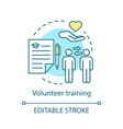 Volunteer training concept icon skills based