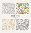 set of seamless abstract patterns vector image