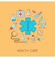 Medicine background vector image