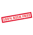 100 percent risk free rubber stamp vector image vector image