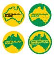 australian made in australia logos vector image vector image