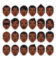 Avatar mens portraits vector image