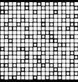 background black white mosaic vector image vector image