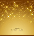 beautiful golden sparkles festival background vector image vector image
