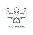 bodybuilder line icon bodybuilder outline vector image