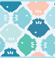 bright fish silhouette pastel blue and pink vector image