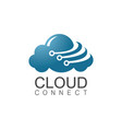 cloud connect logo vector image vector image