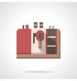 Coffee equipment icon Red espresso machine vector image vector image