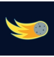Comet fireball or meteor icon cartoon style vector image