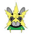 comic villain symbol with yellow lightning vector image vector image