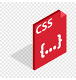css file extension isometric icon vector image vector image