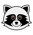 cute raccoon cute animal faces vector image vector image