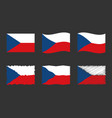 czech flag set official colors and proportion of vector image vector image