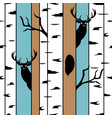 deer in a birch forest seamless pattern with hand vector image vector image