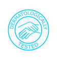 dermatologically tested label vector image vector image