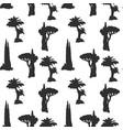 desert trees pattern vector image