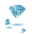 diamond jewels vector image vector image