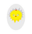 easter baby chicken egg shell crack cute cartoon vector image vector image