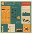 Economy and industry Engineering and metalworking vector image vector image
