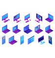electronic devices isometric 3d set vector image