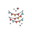 festive garlands icon colored flag symbol of a vector image