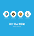 flat icon orientation set of navigation vector image vector image