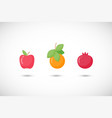fruits fruit flat icon set vector image vector image