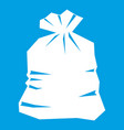 garbage bag icon white vector image vector image