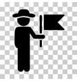 gentleman commander icon vector image vector image
